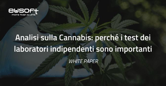 Eusoft LIMS White Paper: Analisi sulla Cannabis, perché i test dei laboratori indipendenti sono importanti
